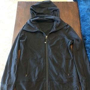 Lululemon Jacket with Hood Size 8 Black